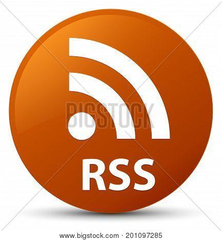 Rss Brown Round Button