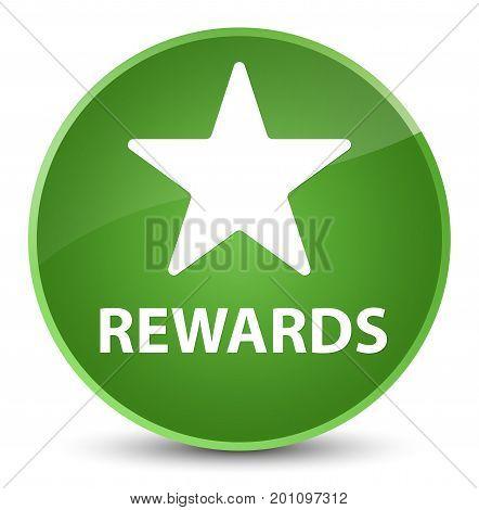 Rewards (star Icon) Elegant Soft Green Round Button