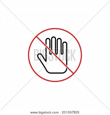 No Entry Sign On White Background