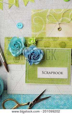 scrap booking greeting card details