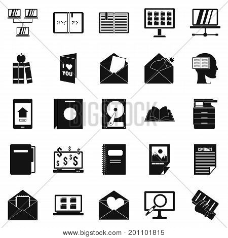 Folder icons set. Simple set of 25 folder vector icons for web isolated on white background