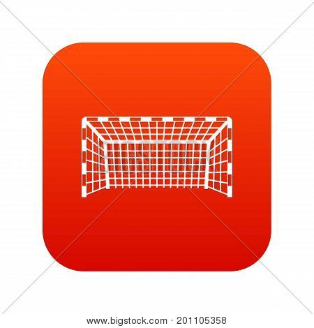 Goal post icon digital red for any design isolated on white vector illustration