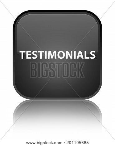 Testimonials Special Black Square Button