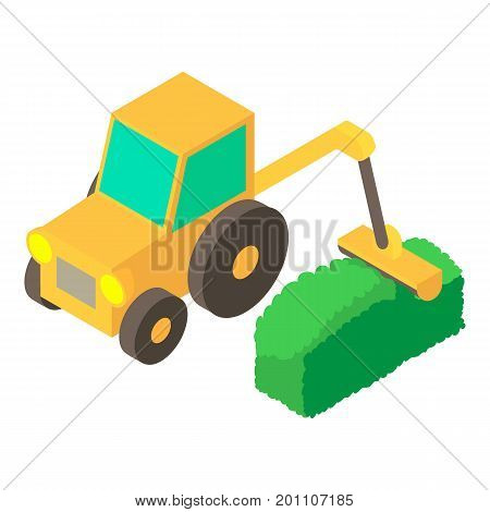 Lawnmower icon. Isometric illustration of lawnmower vector icon for web
