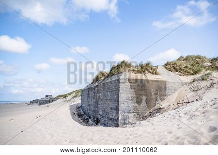 Bunker From World War 2 Burried In A Dune