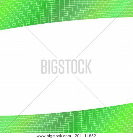 Green geometrical grid background - vector design from curved angular stripes