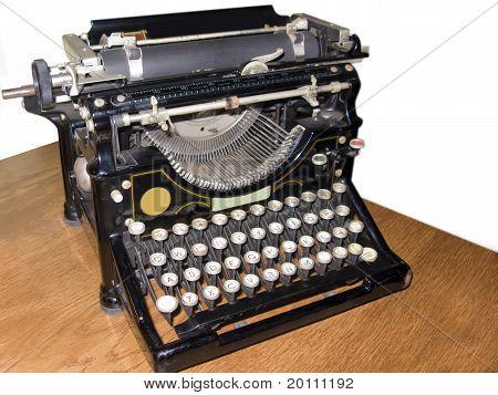 Old Typewriter Isolated