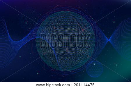 Vector infinite space background Abstract futuristic hyperspace universe sci-fi technologies