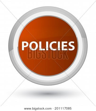 Policies Prime Brown Round Button