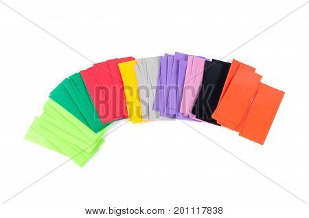 Heat shrink tube different colors for lithium-ion batteries type 18650
