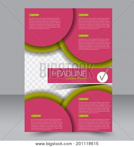 Flyer design. Brochure template. Annual report cover. Vector background illustration.