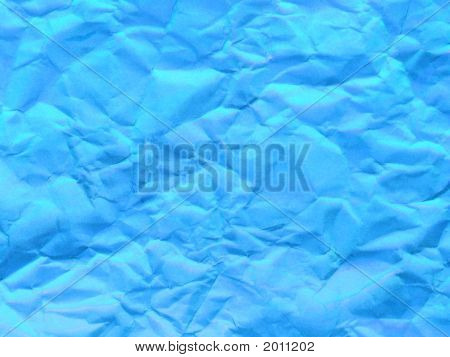 Blue Scrunch Paper