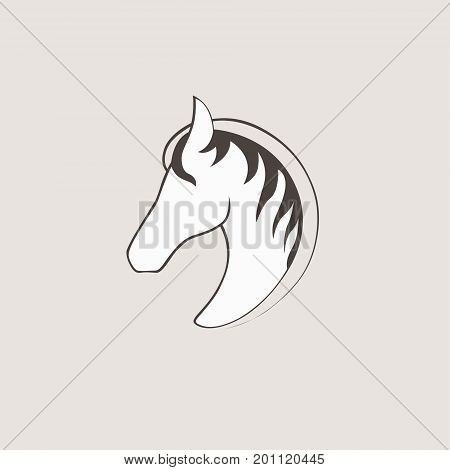 Vector logo horse. template for your business. Pegasus creative icon