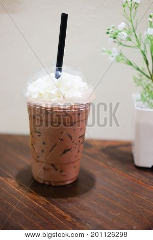 Cold Chocolate Milk Drink