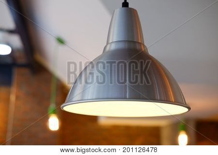 Ceiling lamp decor home or shop bright in orange light