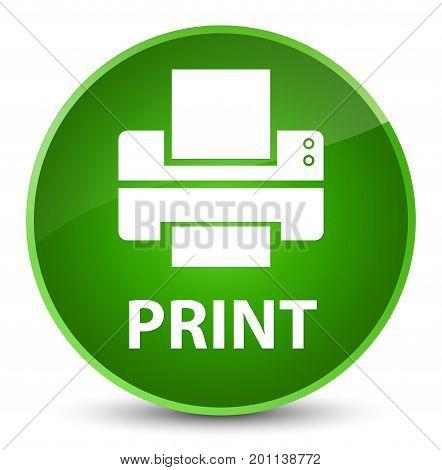 Print (printer Icon) Elegant Green Round Button