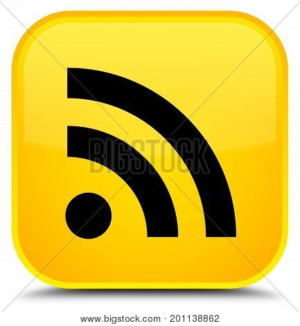 Rss Icon Special Yellow Square Button