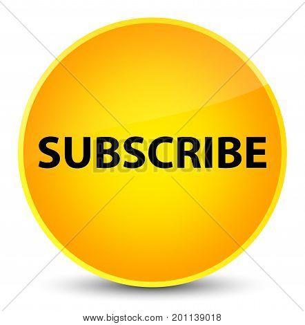 Subscribe Elegant Yellow Round Button