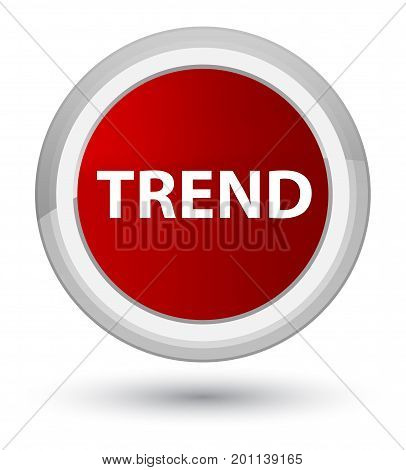 Trend Prime Red Round Button
