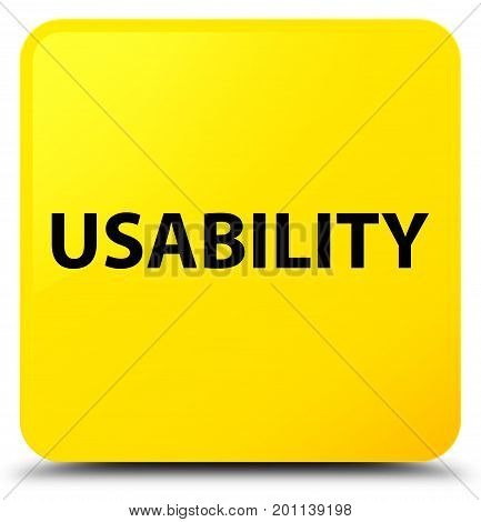 Usability Yellow Square Button