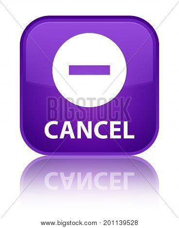 Cancel Special Purple Square Button