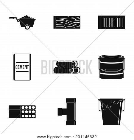 Building tool icon set. Simple set of 9 building tool vector icons for web isolated on white background