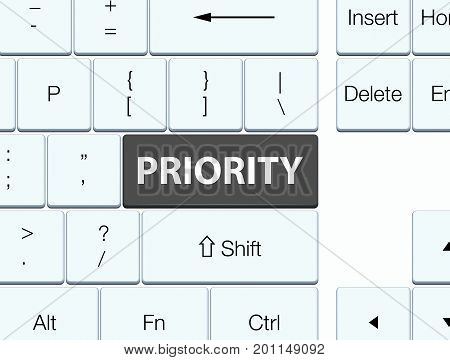 Priority Black Keyboard Button