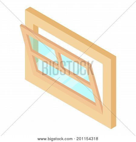 Open window leaf icon. Isometric illustration of open window leaf vector icon for web