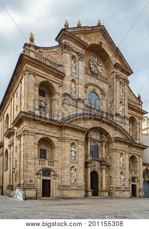 St. Martin's Church is located in the heart of the bourgeois town. Built by the Dietzenhofer brothers it is Bamberg's only baroque church Germany