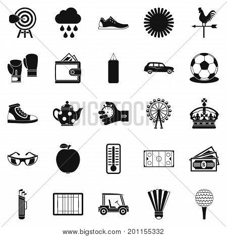 Golf icons set. Simple set of 25 golf vector icons for web isolated on white background