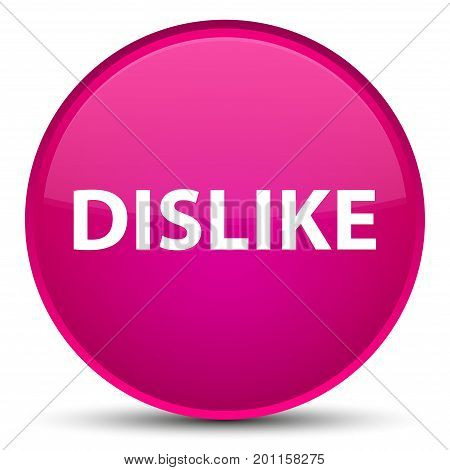 Dislike Special Pink Round Button