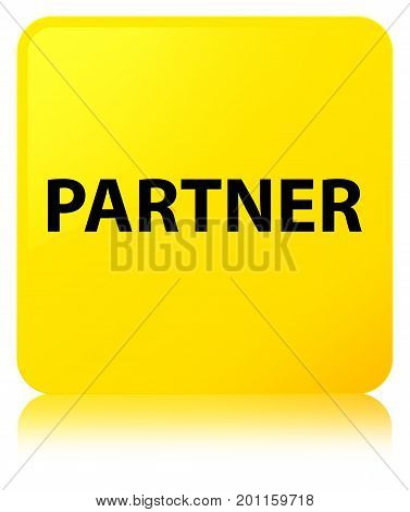 Partner Yellow Square Button