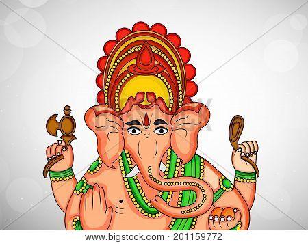 illustration hindu lord Ganesh on the occasion of hindu festival Ganesh Chaturthi