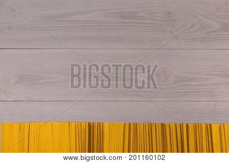 Background to the buff spaghetti and place for your text. photos of food for the posts. background for the menu of Italian retorana. Top view on table