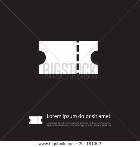 Pass Vector Element Can Be Used For Entry, Pass, Coupon Design Concept.  Isolated Entry Icon.