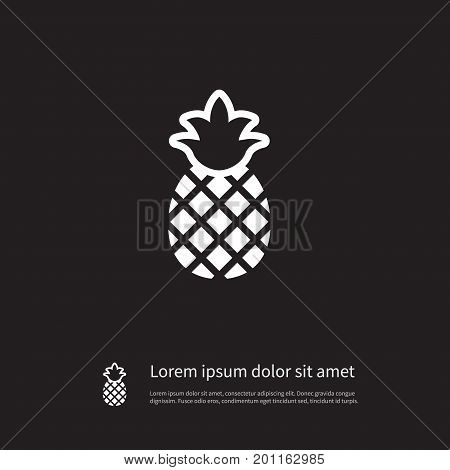 Pineapple   Vector Element Can Be Used For Ananas, Pineapple, Tropical Design Concept.  Isolated Ananas Icon.