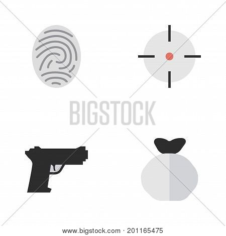 Elements Bioskyner, Target, Moneybox And Other Synonyms Protection, Sniper And Money.  Vector Illustration Set Of Simple Offense Icons.