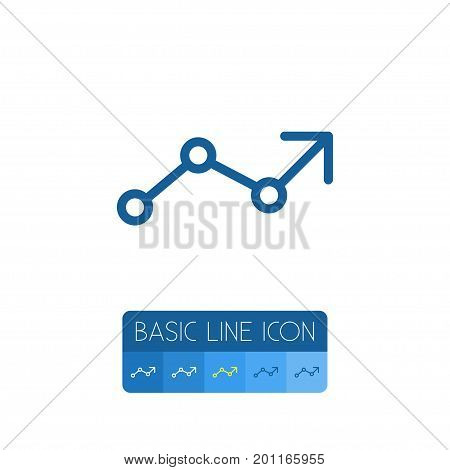 Arrow Up Vector Element Can Be Used For Progress, Increase, Arrow Design Concept.  Isolated Infographic Outline.