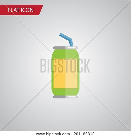 Drink Vector Element Can Be Used For Drink, Beverage, Fizzy Design Concept.  Isolated Beverage Flat Icon.