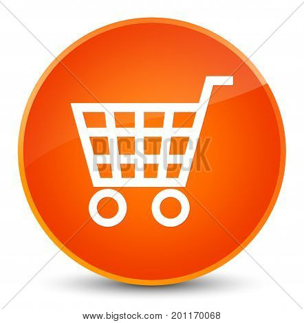 Ecommerce Icon Elegant Orange Round Button