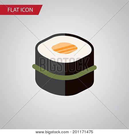 Sushi Vector Element Can Be Used For Sushi, Gourmet, Seafood Design Concept.  Isolated Gourmet Flat Icon.