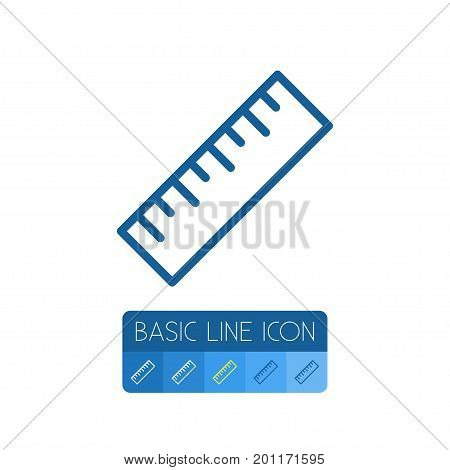 Ruler Vector Element Can Be Used For Ruler, Tool, Straightedge Design Concept.  Isolated Tool Outline.