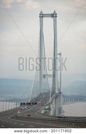 KOCAELI-JUNE-2017-TURKEY.Osmangazi Suspension bridge is the worlds fourth longest
