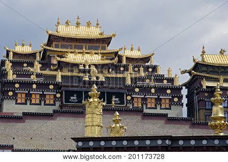 Songzanlin Temple also known as the Ganden Sumtseling Monastery, is a Tibetan Buddhist monastery in Zhongdian city Shangri-La, Yunnan province China and is closely Potala Palace in Lhasa