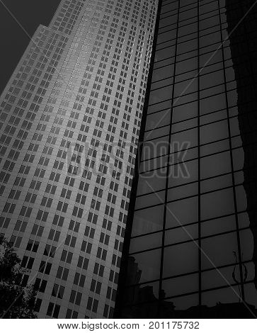 Office buildings in the Centre of the city of Charlotte, NC.