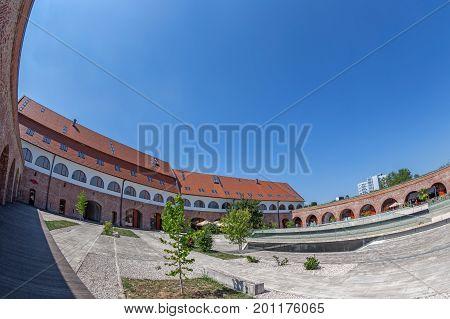 TIMISOARA ROMANIA - AUGUST 24 2016: View of the bastion Maria Theresia from Timisoara Romania.