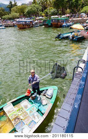 Floating Seafood Market In Sai Kung, Hong Kong