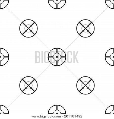 Aim pattern repeat seamless in black color for any design. Vector geometric illustration