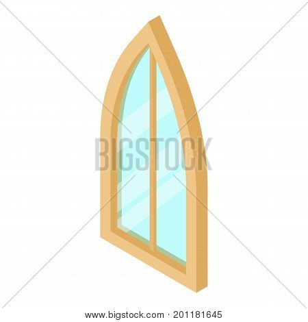 Sharp corner window frame icon. Isometric illustration of sharp corner round window frame vector icon for web