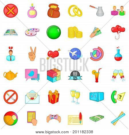 Advice icons set. Cartoon style of 36 advice vector icons for web isolated on white background